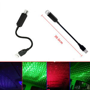 USB LED Decor Car Roof Interior Atmosphere Star Lamp Projector Light Accessories