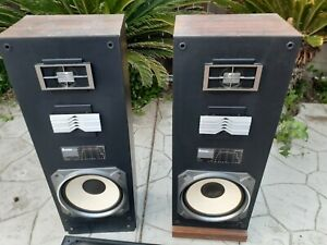 Tower 3 way Rare pair  Vintage Mitsubishi Speakers SS-151, tested working