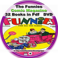 The Funnies Comic Books 32 pdfs Golden Age Like Comic Strips Funnies DVD