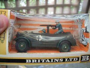 BRITAINS DEETAIL BOXED GERMAN SCOUT CAR