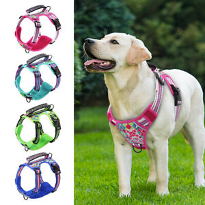 No Pull Dog Harness No Choke Front Lead Dog Reflective Harness Soft Padded Vest