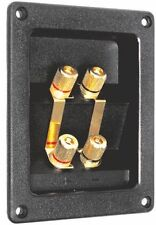 Speaker SubWoofer  Bi Terminal Panel Flush Mount Plate,Gold Plated Contacts