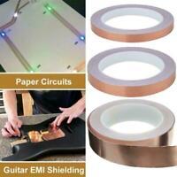 5mm 8mm 20mm x 20m Copper Foil Tape Guitar EMI Shielding Adhesive Barrier R3A8