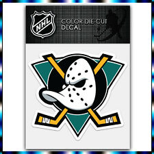 "Mighty Ducks Anaheim NHL Die Cut Vinyl Sticker Car Bumper Window 3.7""x4"""