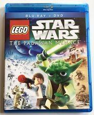 LEGO STAR WARS THE PADAWAN MENACE BLU RAY DVD 2 DISC SET FREE WORLD WIDE SHIPPIN