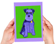 Schnauzer sketchbook, 60 blank/unlined pages, sewn binding, softcover