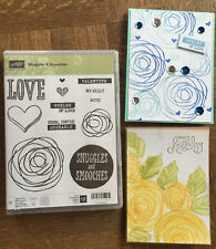 Stampin Up retired SNUGGLES & SMOOCHES stamps, love Valentines, Roses hearts