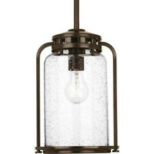 Progress Lighting Botta 1-Light 7.75 in. Outdoor Antique Bronze Hanging Lantern