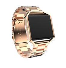 Genuine Stainless Steel Bracelet Strap Watch Band For Fitbit Blaze Smart Watch