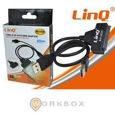 """ADATTATORE CONNETTORE CAVO USB SATA per HARD DISK 2,5"""" sata HDD Linq SA-2525"""