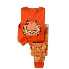 Kids Boys sleepwear set 4T Garfield pajamas set Cartoon cotton Free shipping