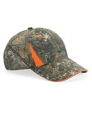 REALTREE XTRA CAMO & BLAZE ORANGE 6-PANEL CAP HAT - NWT- HUNTING SAFETY