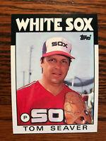 1986 Topps #390 Tom Seaver Baseball Card HOF Chicago White Sox Raw