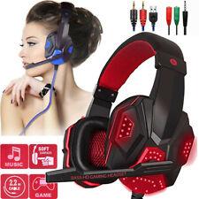 3.5 mm Gaming Kopfhörer Mit Mikrofon Headset für PC Laptop PS4 Pro Xbox One Bass