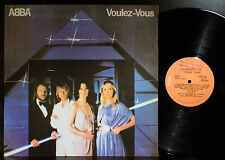 ABBA Voulez-Vous Uruguay Promo Black & White Back Cover LP + Inner Nice Copy!