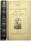 POESIE/SULLY PRUDHOMME/POESIES 1872-1878/ED LEMERRE/VERS 1880