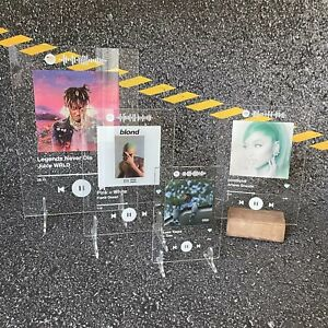Personalised Spotify Plaque With Stands, Any Photo, Any Song, High Quality Print