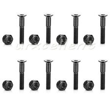 8Pcs 29mm Skateboard Deck Mounting Hexagon Hardware Screws Carbon Steel bolt nut