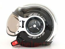 MOMO Style White / Black DOT Open Face Helmet Motorcycle scooter (SS6)