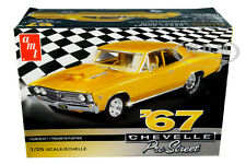 SKILL 2 MODEL KIT 1967 CHEVROLET CHEVELLE PRO STREET 1/25 SCALE BY AMT AMT876 M