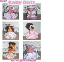 CROCHET FASHION DOLL PATTERN-ICS DESIGNS-707 KELLY GIRLS