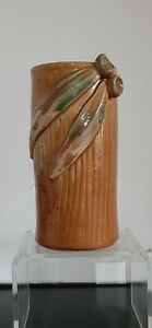 REMUED CYLINDER VASE - EARLY PERIOD. 16.5CM TALL