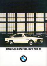 BMW 2500/2800 BERLINA, 2800CS COUPE BROCHURE. REF.12425 a 50 X/69.