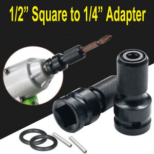 1/2 Drive To 1/4 Hex Drill Chuck Converter Adapter Socket For Impact Wrench
