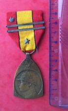 Belgique - Superbe méd.Commémorative 1914-18 - WW I - 2 barettes + * & couronne