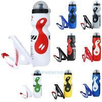 750ml Fahrrad Trinkflasche Wasserflasche +Flaschenhalter Outdoors Sportflasche