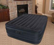"""22"""" Queen Raised Air Bed Mattress Inflatable Electric Pump Blow Up Camping"""