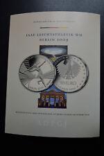 5 x 10 Euro Silber PP Leichtathletik WM 2009 A D F G J inkl. Zertifikat
