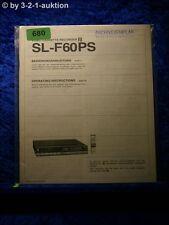 Sony Bedienungsanleitung SL F60PS (#0680)