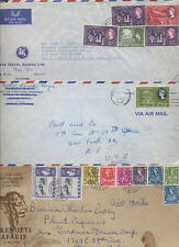 KUT 1954-63 QE2 AIRMAIL COVERS...8 Covers