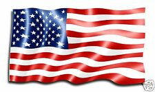 "American Flag RV Travel Trailer Truck Boat Contour Cut Vinyl Decal 36"""