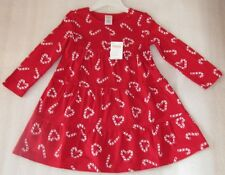Gymboree Cozy Cutie Candy Cane Heart Red Winter Holiday Christmas Dress Sz 3 NWT