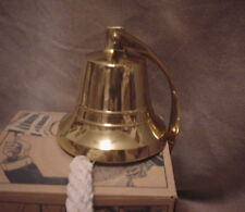 SOLID BRASS SHIPS BELL WITH HANDMADE ROPE- NEW