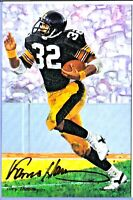 Pittsburgh Steelers FRANCO HARRIS autograph signed Goal Line Art Gold #94 auto