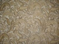 "Chenille Upholstery 57"" Wide Natural  Paisley Drapery fabric by the yard"