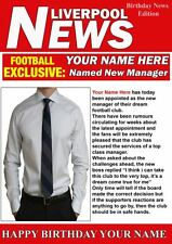 A5 Personalised Liverpool   Football Manager Card PIDH1 Greeting Birthday