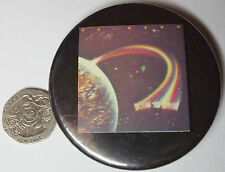 Rainbow Down To Earth Old Og Vtg 1970 `S Très Grand Bouton Badge Poêle à Frire