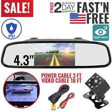 Backup Camera Mirror Car Rear View Reverse Night Vision Parking System Kit#OWN