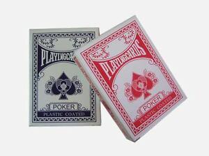 2 Decks Quality Professional Plastic Coated Playing Cards Poker Size Games Fun