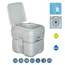 5 Gallon 20L Waste Tank Portable Toilet Flush Travel Camping Potty Commode New