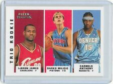 2003-04 Fleer Tradition LeBron James / Carmelo Anthony Trio Rookie card MINT !!!