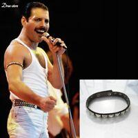 Freddie Mercury Rivet Leather Bracelet Bohemian Rhapsody Queen Rock Band Armband