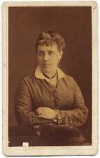 CDV Trento Ritratto di donna Foto originale albumina G.B. Altadonna 1880c S1525