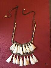 Serefina Anthropologie tassel fringe necklace