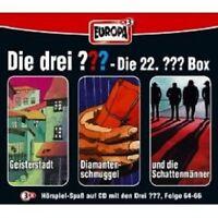 "DIE DREI ??? ""22/3ER BOX FOLGEN 64-66"" 3 CD NEU"