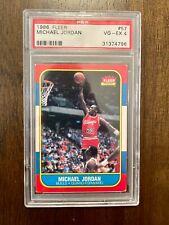 1986 Fleer Michael Jordan Rookie Card (PSA 4)